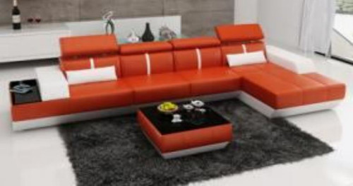 ZIMA  LEATHER  CHAISE LOUNGE (MODEL- G1086B) - CHOICE OF LEATHER AND ASSORTED COLOURS AVAILABLE