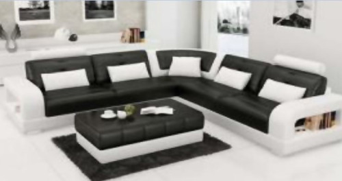 MALIA  LEATHER  CORNER LOUNGE (MODEL- G1080B) - CHOICE OF LEATHER AND ASSORTED COLOURS AVAILABLE