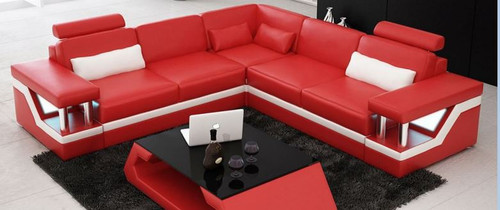 HOREB  LEATHER  CORNER LOUNGE (MODEL- G1074D) - CHOICE OF LEATHER AND ASSORTED COLOURS AVAILABLE