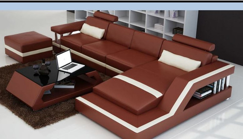 HOREB II  LEATHER  CHAISE LOUNGE (MODEL- G1074C) - CHOICE OF LEATHER AND ASSORTED COLOURS AVAILABLE