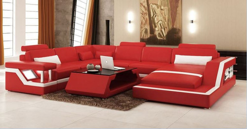 HOREB III  LEATHER  CHAISE LOUNGE (MODEL- G1074) - CHOICE OF LEATHER AND ASSORTED COLOURS AVAILABLE