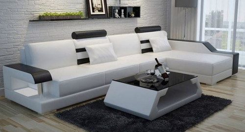 VOKIS LEATHER  CHAISE LOUNGE (MODEL- G1073C) - CHOICE OF LEATHER AND ASSORTED COLOURS AVAILABLE