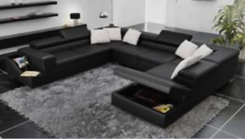 SANSANNAH  DOUBLE CORNER LEATHER  LOUNGE (MODEL- G1070D) - CHOICE OF LEATHER AND ASSORTED COLOURS AVAILABLE