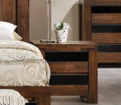 TOLEDO 2 DRAWER BEDSIDE TABLE (TOLBST) - ANTIQUE COFFEE STAIN