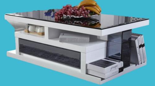 MYKONOS COFFEE TABLE MODEL 940 (GS94OCT/BL) -  460(H) x 1200(W) x 700(D) - WHITE OR BLACK GLOSS