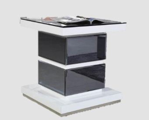 MYKONOS LAMP TABLE (GS920ST/BL) - WHITE OR BLACK GLOSS