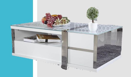 PALERMO COFFEE TABLE (PALCT) - 450(H) X 1200(W) X  700(D) - HI GLOSS WHITE