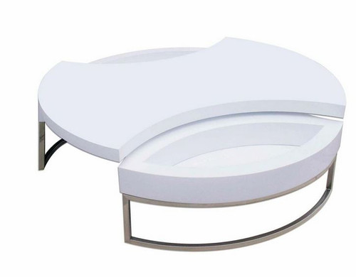 FELIX COFFEE TABLE SWIVEL (FELCT) - WHITE