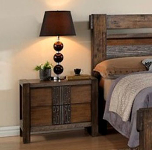 MELROSE BEDSIDE TABLE (IM-1488) (MODEL 9-18-15-14-2-1-18-11) - CHOCOLATE (DARKER THAN PICTURED)
