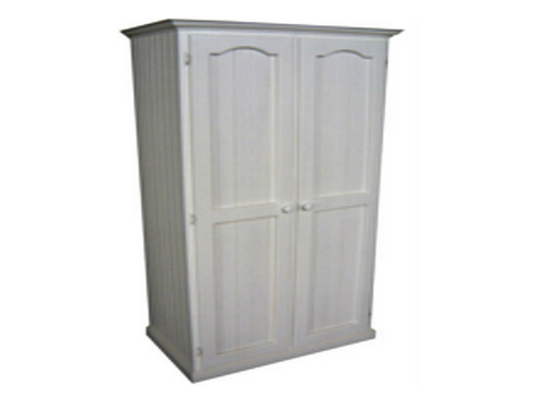 MUDGEE TIMBER 1000W / 2 DOOR ONLY WARDROBE WITH HAT RACK - 1800(H) X 1000(W) - ASSORTED COLOURS