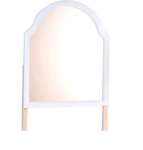 QUEEN ANN (QAMIR) MIRROR - 1000(H) x 850(W)  - WHITE