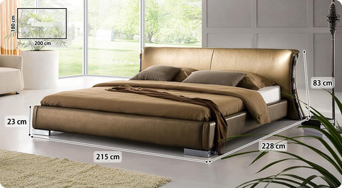KING BLANCHE LEATHERETTE BED (3014) - ASSORTED COLORS