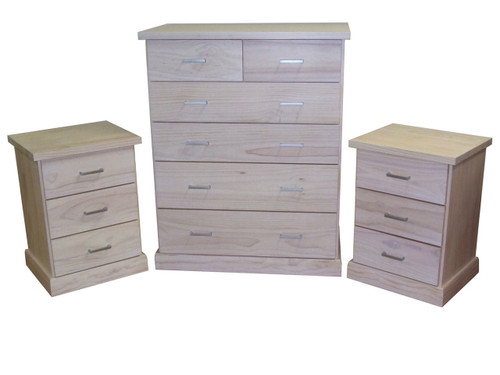 BAYSIDE (CBY103/CBY306) 3 PIECE CHEST SET - ASSORTED TIMBER COLOURS AVAILABLE
