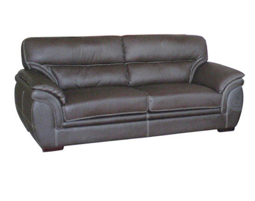MATILDA 3 SEATER BONDED LEATHER SOFA LOUNGE - BLACK , RED , GREY OR BEIGE