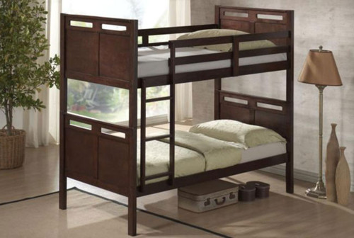 SINGLE ETHANS (MODEL 14-5-4) BUNK BED - CHOCOLATE