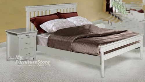 KING SINGLE PARKVIEW (MODEL 18-15-13-1-14-25) BED - WHITE