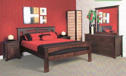 SINGLE OR KING SINGLE TOKYO 4 PIECE BEDROOM SUITE  - BLACK