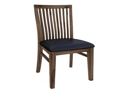 MORAYA (MOD-1010) DINING CHAIR WITH LEATHERETTE SEAT - WENGE