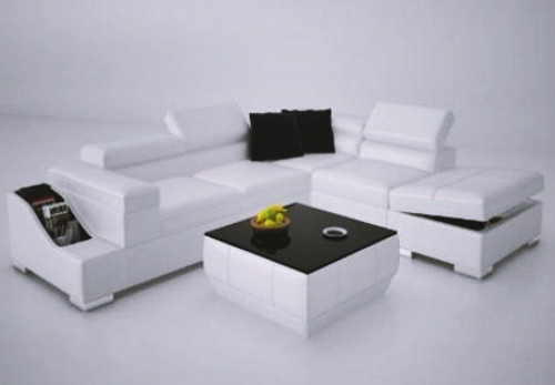 CTA  LEATHER  CORNER LOUNGE WITH COFFEE TABLE ( MODEL-K5006C) - CHOICE OF LEATHER AND ASSORTED COLOURS AVAILABLE