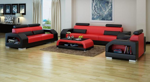 ROLDERMO  (G8001D) 3 SEATER + 2 SEATER + 1 SEATER LOUNGE  SUITE  - CHOICE OF LEATHER AND ASSORTED COLOURS AVAILABLE