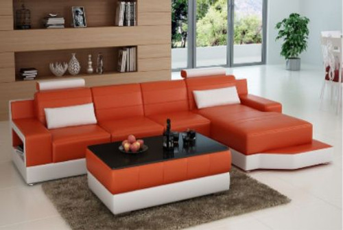 SETIMA LEATHER  CHAISE LOUNGE SUITE  ( MODEL-L6005C) - CHOICE OF LEATHER AND ASSORTED COLOURS AVAILABLE