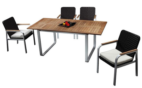 ROLA 5 PIECE OUTDOOR DINING SETTING