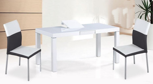CHADI   DINING TABLE ONLY (T0004) - 1600 -2000(W) X 900(D) - WHITE