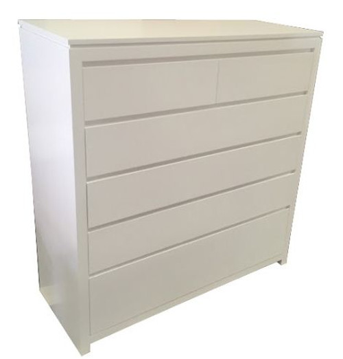 CELINE FINGERGROOVE EXTRA LARGE TALLBOY  1200(H) x 1200(W)  - AVAILABLE IN ANTIQUE  WHITE OR WHITE COLOUR