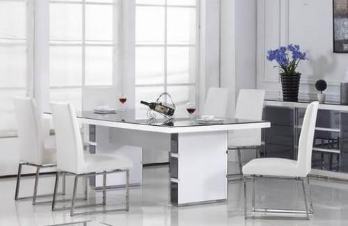 MYKONOS 7 PIECE DINING SETTING  - 2200(L) X 1000(W) - WHITE