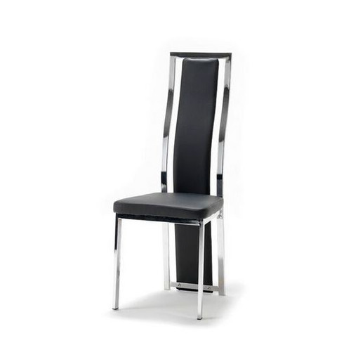 CINDY (XINDC16)  LEATHERETTE  DINING CHAIR - BLACK