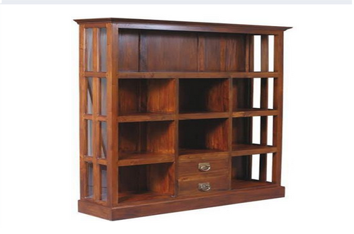 CECILIA  (DC002GL) DISPLAY CABINET  (1700H x 1500W) - CHOCOLATE OR MAHOGANY