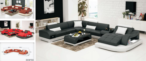 MAX (G8009)  CHAISE   LOUNGE SUITE WITH COFFEE TABLE AND SMALL TABLE  - CHOICE OF LEATHER AND ASSORTED COLOURS AVAILABLE