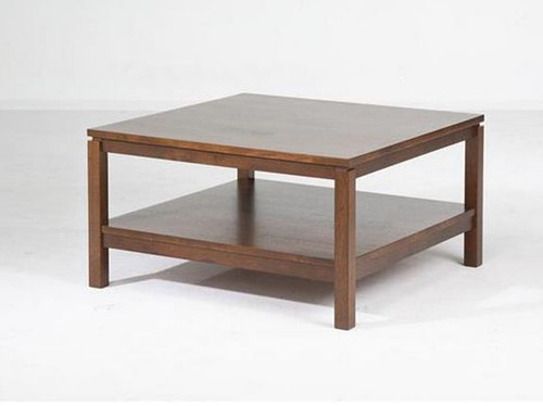 CUBIST (VCT-015) COFFEE TABLE -  430(H) X 800(W) X 800(D) -   LIGHT HONEY