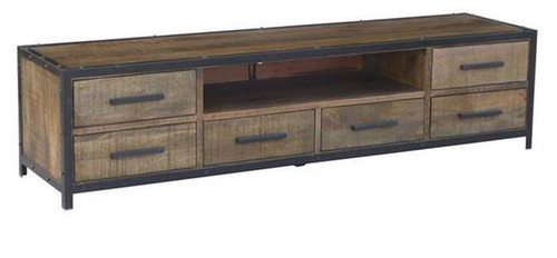 MONTEGO (MG-022) TV UNIT WITH 6 DRAWERS 2040(W) - ANTIQUE NATURAL