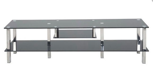 KIAMA  (KIA-ETU14) GLASS   ENTERTAINMENT UNIT - 1400(W) x 400(D) - BLACK OR CLEAR
