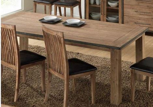 PULLLMAN (VACA-001) DINING TABLE ONLY - 2100(W) X 1000(D) - WIRE BRUSH
