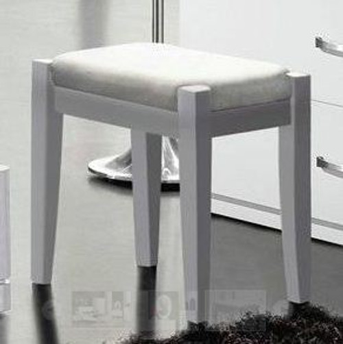KEVIN (8-1-23-1-9-9)  DRESSING STOOL  -  GLOSS WHITE