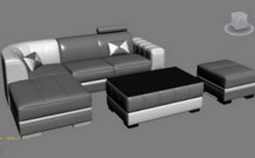 HARLEY (MODEL-F3010E)  LEATHERETTE  CHAISE LOUNGE SUITE WITH COFFEE TABLE - CHOICE OF LEATHER AND ASSORTED COLOURS AVAILABLE