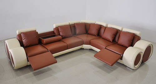 FLEMINGS  (A1163) LEATHERETTE  CORNER LOUNGE - ASSORTED COLOURS