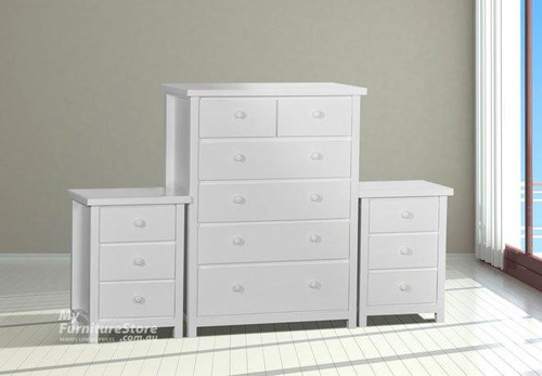 FEDERATION 3 PIECE CHEST SET - WHITE