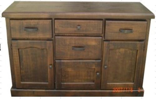COBAR (COBBF)  2 DOORS 5 DRAWERS BUFFET -  1640(W) -ROUGH SAWED