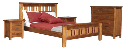 MONTANA KING  FEDERATION 4 PIECE TALLBOY BEDROOM SUITE - MOUNTAIN GUM (2099)
