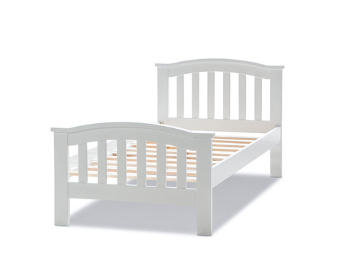 SINGLE BESSY  BED  (MODEL- 12-5-1-8)  - WHITE