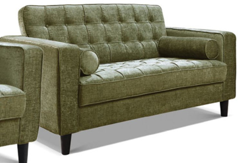 RITZ 2 SEATER  FABRIC UPHOLSTERED SOFA - ASSORTED COLOURS