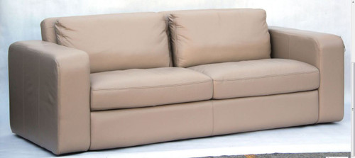 JOH 3 SEATER SOFA  - 100% COW LEATHER  - ASSORTED COLOURS