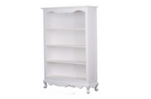 QUEEN ANN  4 SHELVING BOOKCASE - 1800(H) x 1100(W)  (BC 000 QA 180)     - WHITE