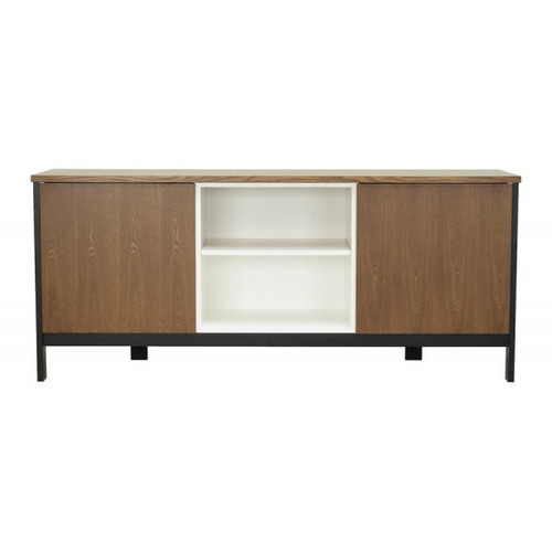 JARVY 1860(W)  2 DOOR  SIDEBOARD -  COCOA  &   WHITE