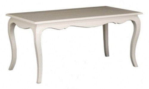 FRENCH PROVINCIAL DINING TABLE (DT 160 85 FP) - 1600(L) X 850(W) - WHITE