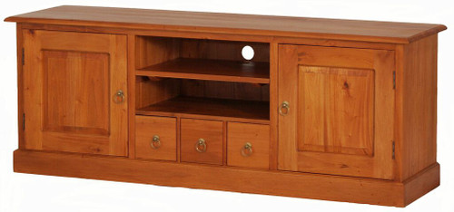 TASMANIA 2 DOOR 3  DRAWER ENTERTAINMENT UNIT (SB 203 PN) - 1600(W) - LIGHT PECAN