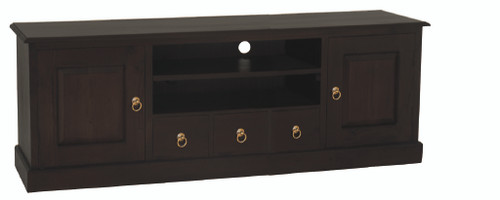 TASMANIA 2 DOOR 3  DRAWER ENTERTAINMENT UNIT (SB 203 PN) -  1600(W) CHOCOLATE